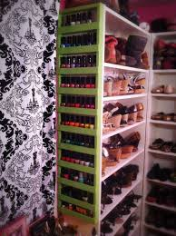 diy nail polish shoe rack clever dream closet ideas