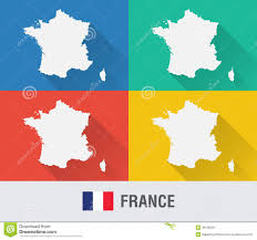 France On World Map by France World Map In Flat Style With 4 Colors Stock Vector Image
