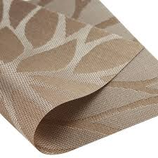 4 sets dining room placemats for table heat insulation stain