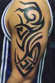 with left bicep tribal