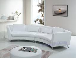 Houzz Sectional Sofas Adorable Curved Leather Sofa With Curved Leather Couch Houzz