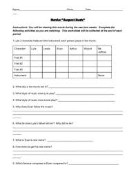 august rush movie worksheet by middle music maestro tpt