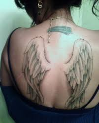 small angel wings tattoo wing tattoos for girls r i p