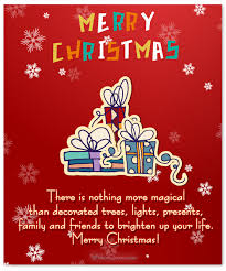 merry wishes to friends and family merry