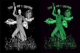 glow in the dark poster tesla glow in the dark poster by the mighty squirm horrific finds