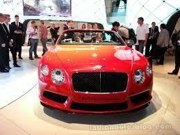 bentley red convertible bentley continental gt v8 s convertible front indian autos blog