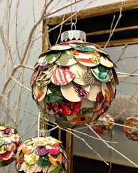layered paper circles ornament by all things paper project home