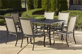 Outdoor Dining Room Amazon Com Cosco Outdoor 7 Piece Serene Ridge Aluminum Patio