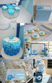 Blue Baby Shower Decorations Elephant Baby Shower Supplies