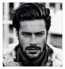 Hairstyles For Men With Thick Hair Medium Length by Medium Length Brushed Back Hair With Low Fade Medium Male