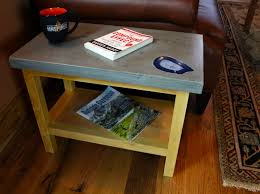 How To Build End Table Plans by How To Make A Concrete End Table Diy Projects With Pete
