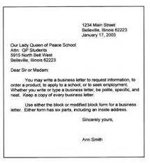 basic business letter the letter sample