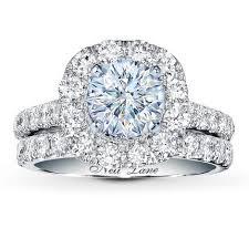 neil bridal set neil bridal setting 2 ct tw diamonds 14k white gold jared