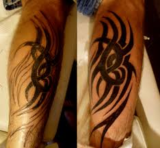 amazing tribal tattoo on biceps real photo pictures images and