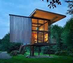 tiny houses prefab low maintenance prefab tiny steel country cabin idesignarch