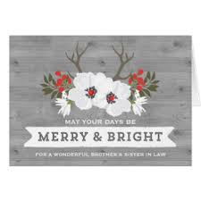 sister in law holiday greeting cards zazzle