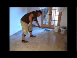 easiest way to clean grout from tile floors