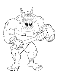 trolls are very scary coloring pages for kids dat printable