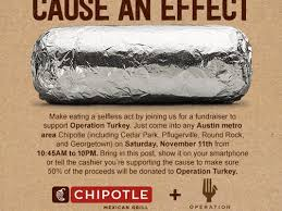 chipotle will use veterans day sales to donate thanksgiving