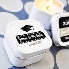 graduation candles personalized graduation square candle tins graduation party