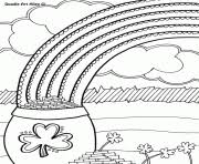 rainbow pot of gold coloring pages rainbow pot of gold sun and cloud coloring pages printable