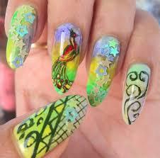 50 peacock nail art design ideas
