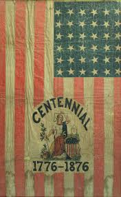 1876 American Flag Lot 55 Framed U S Centennial Flag