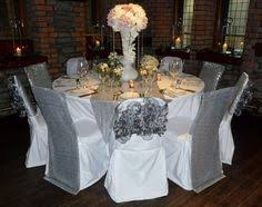 silver chair covers white organza sash silver sequin chair veil by simply bows