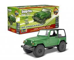 jeep green revell build and play snap jeep wrangler rubicon model kit