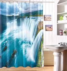 Waterproof Fabric Shower Curtains Online Buy Wholesale Blue Fabric Shower Curtain From China Blue