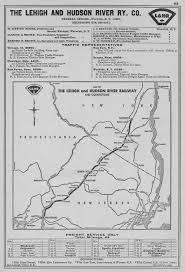 Hudson River Map The Lehigh And Hudson River Railway