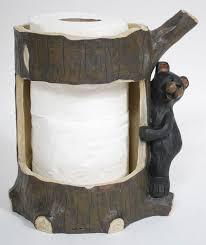 bear wall toilet paper holder