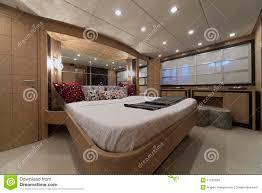 italy luxury yacht master bedroom stock photo image 11242630