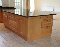 oak kitchen island with granite top bespoke oak kitchen island with top quality large black granite