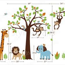 Safari Nursery Wall Decals Wall Decal Safari Wall Decals For Nursery Safari Animal Wall