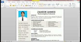 Resume Youtube Resume Template Ms Word Tutorial How To Insert Picture In