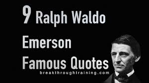leadership quotes ralph waldo emerson ralph waldo emerson famous quotes youtube