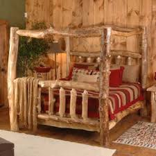 canopy beds for every decorating style log cabin