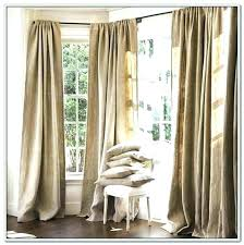 Smocked Burlap Curtains Burlap Curtain Panels Home Smocked Burlap Curtain Panels