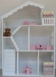 White Storage Bookcase by Deluxe White Wooden Doll House Storage Bookcase Children Doll