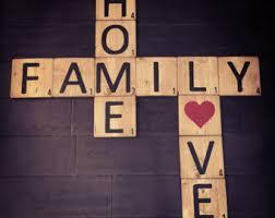 Decorative Letter Blocks For Home Family Letter Blocks Etsy