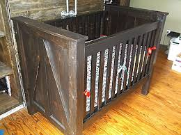 buy a custom made rustic baby crib made from solid wood made to