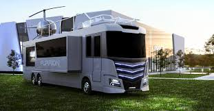 bugatti jet elysium elysium rv has its own helicopter and landing pad superunleaded com
