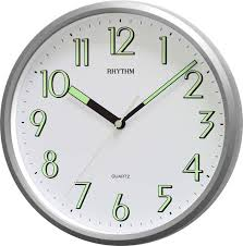 Designer Clock by Wall Clock 3d Fluorescent 35 Cm Various Colours Designer Clock