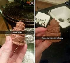 Soap Meme - why would anyone make cake soap that too chocolate color idiots