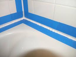 Clear Bathroom Sealant Dover Projects How To Caulk A Bathtub