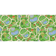 learning carpets play carpet at the zoo multi kids rug lc 183
