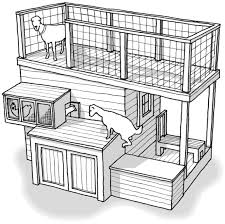 How To Have Chickens In Your Backyard by Tiered Goat Shed Seriously Awesome No Chickens Though Lol