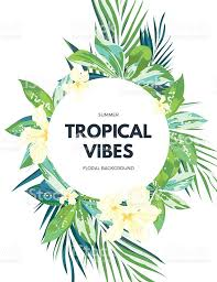 Hawaiian Flowers And Plants - bright hawaiian design with tropical plants and hibiscus flowers