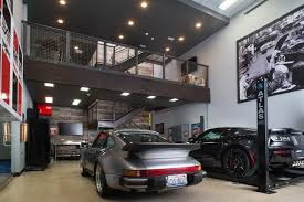 porsche home garage storage units now with space to cook relax and entertain wsj